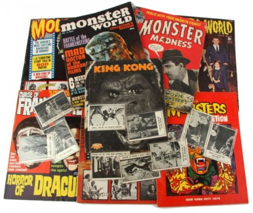 monster movie mags collection